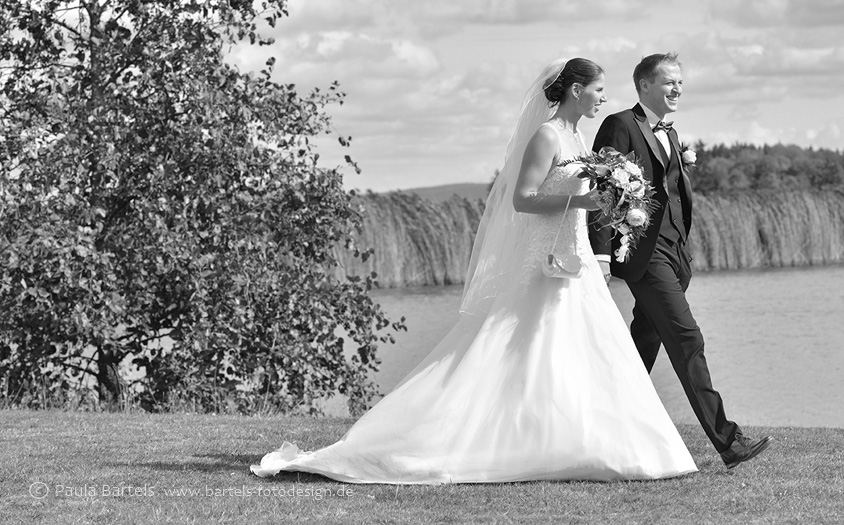 Hochzeitsfotos in der Natur